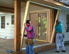 Framing Patio Door Hometime How To Porches Installing Screens And Sliding Doors