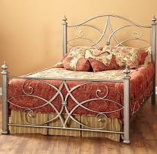 Steel Bedroom Furniture Katrina Iron Bed In German Silver By Largo Furniture Humble