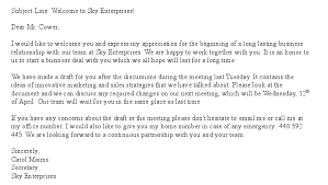 free welcome letter template for new business partner