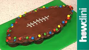 birthday cake ideas how to make pull apart football cupcakes