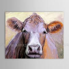 Cow Home Decor Home Decor Painted Animal Painting Cow Large Modern Wall