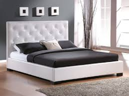 bedroom luxury black and white tufted headboard cute dark blue