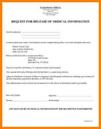 medical record release form template sample medical records