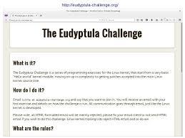 Challenge Is It Eudyptula Challenge