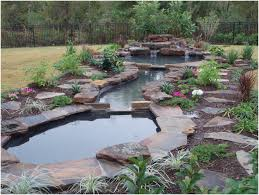 backyards appealing rugged waterfalls add soothing sounds to