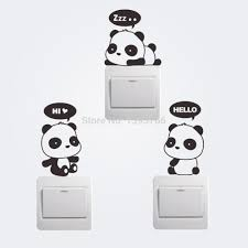 new cheap carton panda switch refrigerator car wall stickers kids new cheap carton panda switch refrigerator car wall stickers kids room mural home decoration black wall decals black wall stickers from dreamdecor