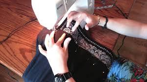 diy how to make a bandana extension t shirt youtube