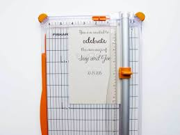 making diy invitations for a fall wedding fiskars