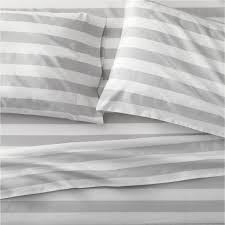 Linen Covers Gray Print Pillows White Walls Grey Bed Sheets Pillow Cases And Sheet Sets Crate And Barrel