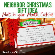 2 neighbor christmas gift idea melt in your mouth cookies how