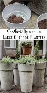 best planters the best tip for filling large outdoor planters so much better