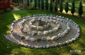 circular garden rock pattern modern rock gardens pinterest