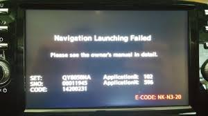 2015 nissan altima navigation update navigation launching failed error nissan murano forum