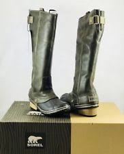 womens equestrian boots size 12 sorel s slimpack size 12 nl2007051 brown gray ebay
