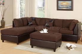 microfiber sectional with ottoman f7615 poundex chocolate microfiber sectional sofa w ottoman