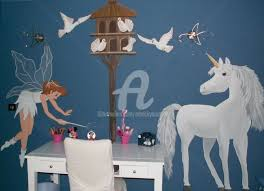 fresque chambre fille fresque murale pour chambre d enfant nicky