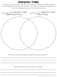 free character traits graphic organizer have students compare