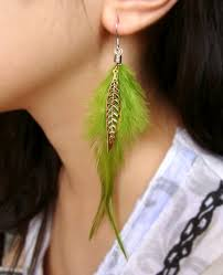 one side feather earring best one side earrings photos 2017 blue maize