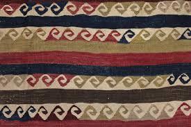 Greek Motifs Old Cubuklu Kilim From Mugla Province Anatolia With Repeated