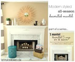 Cottage or Coastal themed decorated mantel 1 mantel decorated 5