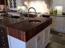thick walnut end grain top with prep sink brooks custom