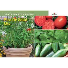 Vegetable Container Gardens Burpee Pico De Gallo Mix Container Garden Seed 69407 The Home Depot