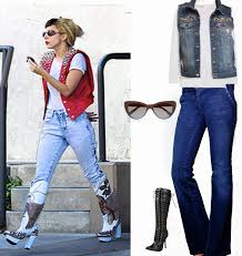 rock the designer jeans in lady gaga style halloween costume