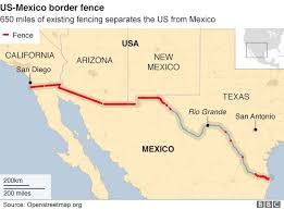 trump says us mexico wall may not need to cover entire border