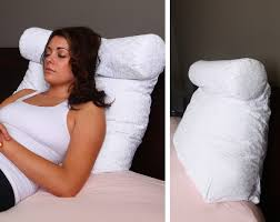 Back Support Cushion For Bed Relax In Bed Pillow Plain White Best Lounger Support Pillows