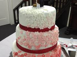 white to red wedding cake cakecentral com