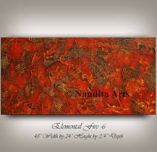 Home Design Ideas Nandita Texture Red Wall Art Large Abstract Painting Modern Art