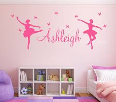 popular personalised butterfly wall art buy cheap personalised ballerina butterflies kids personalised any name wall art mural ballet sticker china mainland