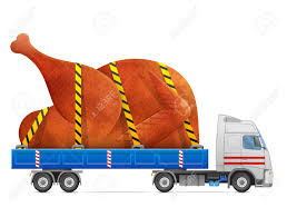 road transportation of roast turkey chicken delivery of big