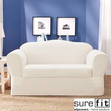 sure fit chair slipcover overstock com sure fit twill supreme 2 sofa slipcover