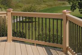Banister Guard Home Depot Outdoor Plastic Decking Porch Railings Lowes Deck Railing