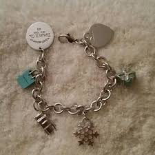 tiffany charm bracelet with charms images Women 39 s tiffany round link bracelet on poshmark jpg