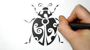 drawing a lady bug tribal tattoo design style youtube