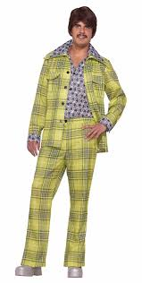 mens costume men s plaid leisure suit costume plaid one size