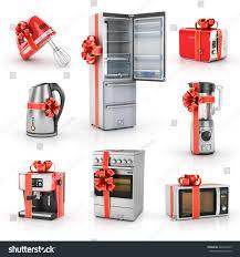Microwave And Toaster Set Set Kitchen Gifts Blender Mixer Toaster Stock Illustration