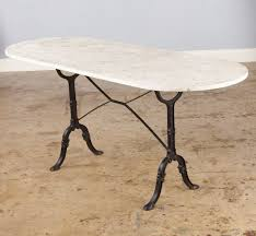 wonderful oval marble top table french bistro table with oval