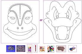 creation station snake chameleon mask