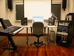 interior futuristic home music studio design for control room