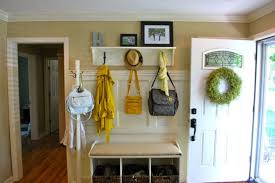 appealing entryway benches coat rack nearby joules yellow floral