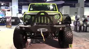 custom off road jeep jeep wrangler custom by razer offroad u0026 fabtech 2016 sema youtube