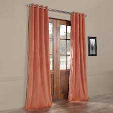 Coral Blackout Curtains Desert Coral Grommet Blackout Velvet Curtain