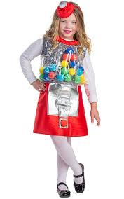 Halloween Costumes Girls Age 8 Amazon Gumball Machine Costume Size Medium 8 10 Toys U0026 Games