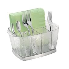 furniture charming glass utensil caddy for kitchen and dining