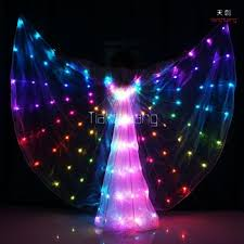 light up fairy wings programmable led light up fairy belly dance costumes isis wings