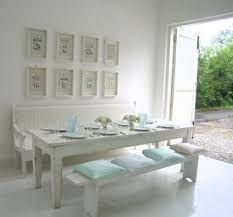 white table with bench blue dining room trend about white kitchen table with bench white