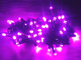 diwali decorative 28 feet led purple direct light string for